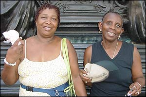 Cecilia Sarjeant (left) and Claudette Wilkinson, both 59