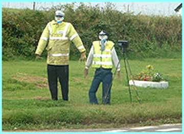 Scarecrow police in Cornwall are trying to reduce speeding