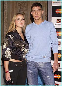 Slightly less urban than most people there, Charlotte Church and boyfriend Stephen