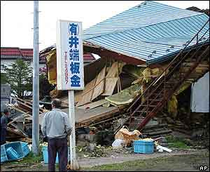 A small metal processing factory which collapsed in Shironuka, Hokkaido