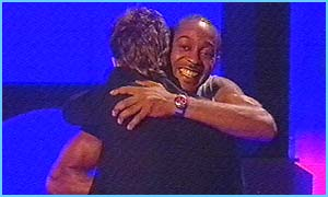 Gary wins the vote - and hugs Audley