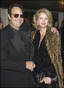 Dan Akroyd and wife Donna Dixon arrive at Sunday's pr�miere