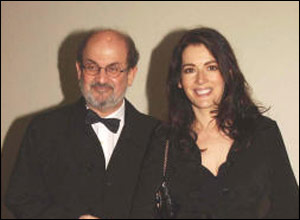 Author Salman Rushdie and television chef Nigella Lawson