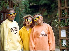 Andrew Wood's daughters ready to watch the eclipse