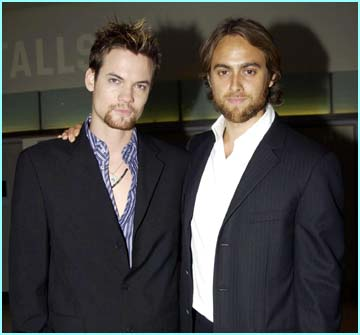 Stars of the film Shane West (Tom Sawyer) and Stewart Townsend (Dorian Gray)