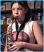 Milly loved playing the saxophone