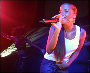 Ms Dynamite at the 1Xtra launch party