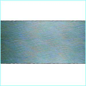 British artist, Bridget Riley, painted this as part of the Op Art movement