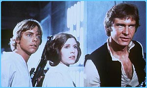 Luke, Leia and Han in Star Wars: Episode Four