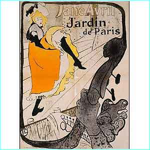 Toulouse-Lautrec, painted this poster for the Moulin Rouge in Paris in the 1800s