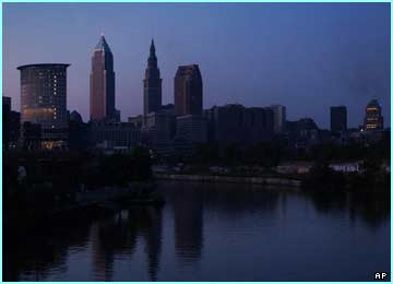 City of Cleveland on a quiet dark day!
