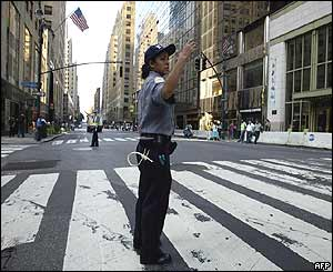Traffic policewoman outside Grand Central Station