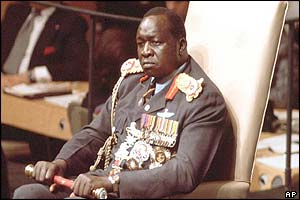 Idi Amin at the United Nations in 1975