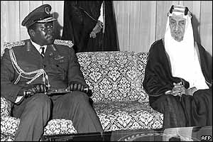 Amid with the late King Faisal bin Abdul Aziz in Riyadh in 1977