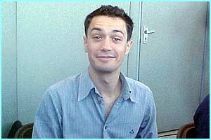 A cheeky grin from He Who Must Not Be Named! Christian Coulson (aka Tom Riddle)