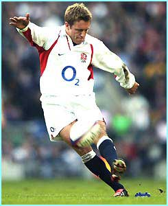 Fly-half Jonny Wilkinson is already Engand's highest points scorer ever, even though he's only 24