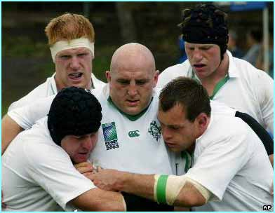 Keith Wood (centre) returns as Ireland captain after injury, and his leadership and movement around the pitch is vital