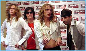 Best live act and album winners, the Darkness
