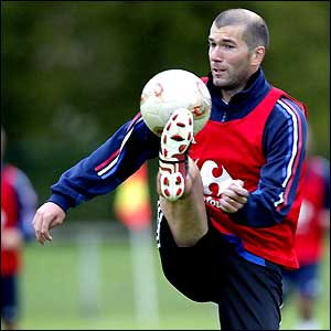 Zinedine Zidane French football midfielder