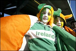 A young Irish fan at the match