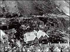 Aberfan from the air after the landslide