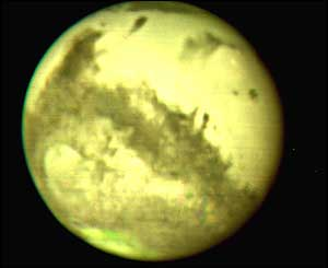 Mars image captured by the United Kingdom Infrared Telescope (UKIRT)