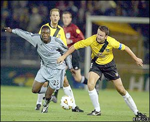 Shola Ameobi makes a challenge