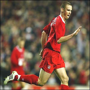 Liverpool's Le Tallec celebrates his goal