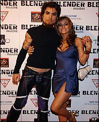 Actress Carmen Electra with musician Dave Navarro