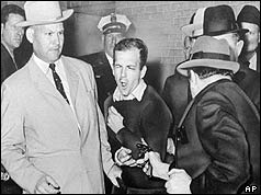 Lee Harvey Oswald being shot