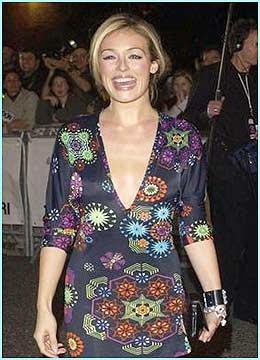Cat Deely flashes a big smile for the cameras