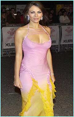 Liz Hurley co-presented the event and changed outfit 17 times!