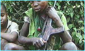 This boy is a child soldier in Uganda