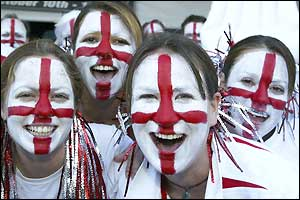 England fans revelling in carnival atmosphere