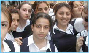 Pupils at Tigris Secondary School For Girls