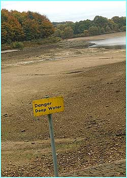No deep water at the moment! The UK is experiencing a drought due to a lack of rain this year