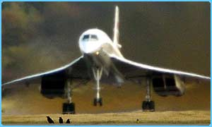 Concorde takes off from Edinburgh