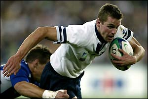 Scotland's Chris Paterson in action