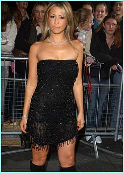 Rachel Stevens received the best UK female singer award - not bad considering she didn't get to number one!