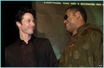 Neo and Morpheus - also known as Keanu and Laurence Fishburne