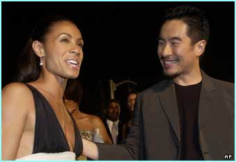 Jada Pinkett Smith (Niobe) and Anthony Wong (Ghost) who not only star in the movie, but also the game Enter the Matrix