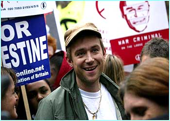 Damon Albarn, the lead singer of Blur also joined the march.