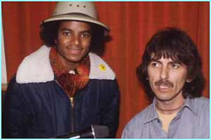 Jacko meets George Harrison
