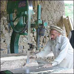 Solar panel work in Tirah valley, Pakistan