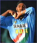 India's Harbhajan Singh in action