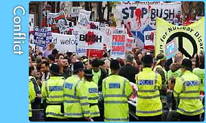 Anti-Bush demo