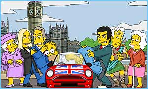 JK and Tony Blair star in The Simpsons