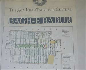 Plan of the Bagh-e Babur