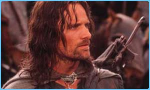 Viggo Mortensen in the LOTR films