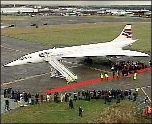 Concorde 216 on the ground at Filton